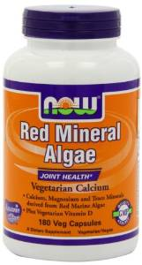 now red mineral algae vegan calcium