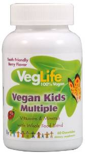 veglife vegan kids multivitamin