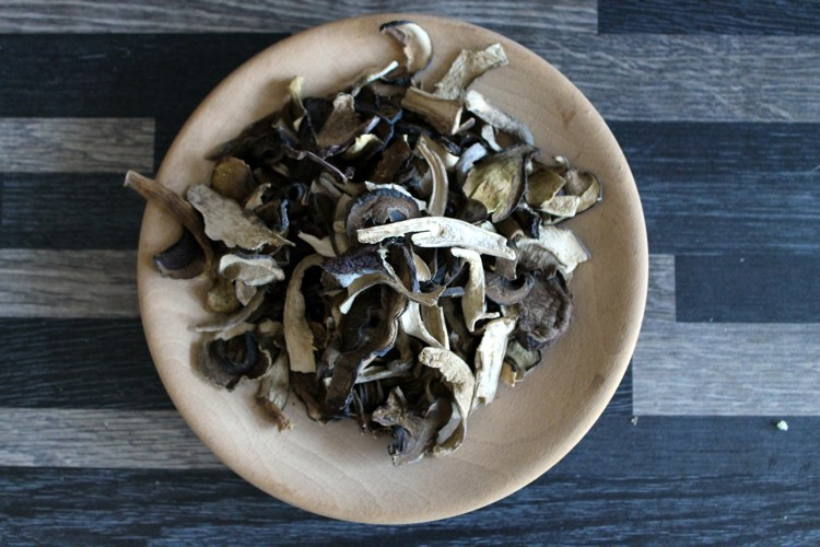 dried wild mushrooms