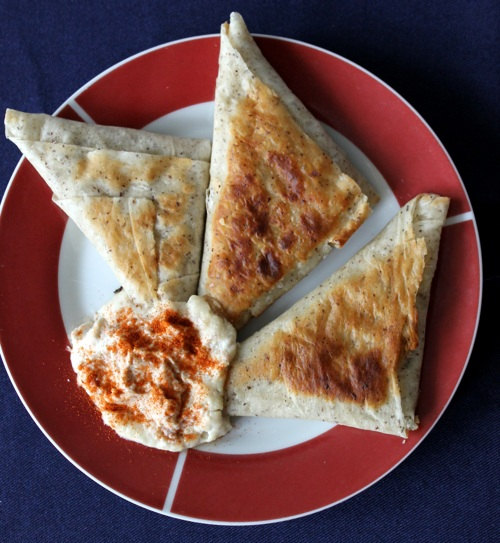 curried vegan phyllo pockets