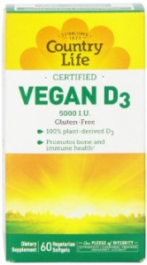 country life vegan vitamin d3 capsules