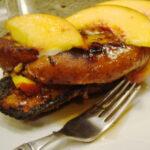 Vegan Cinnamon Peach French Toast